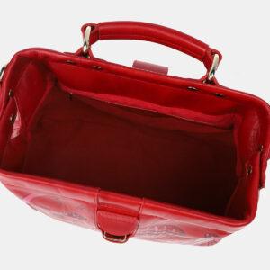 Кожаная красная сумка с росписью ATS-4206 237337