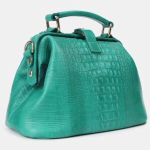 Кожаная зеленая женская сумка ATS-4210 237319