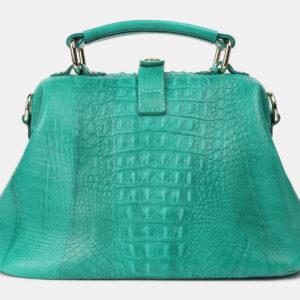 Кожаная зеленая женская сумка ATS-4210 237320