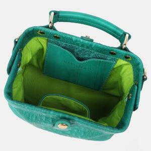 Кожаная зеленая женская сумка ATS-4210 237322