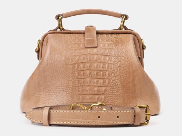 Функциональная бежевая женская сумка ATS-4207