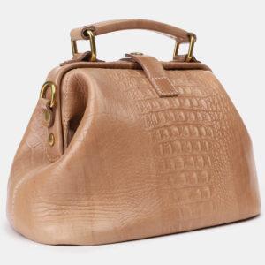 Функциональная бежевая женская сумка ATS-4207 237329