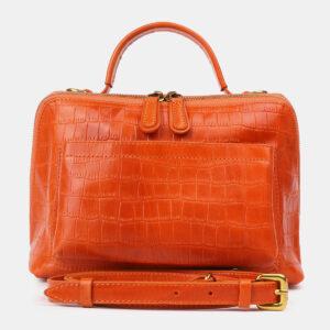Функциональная оранжевая женская сумка ATS-4213