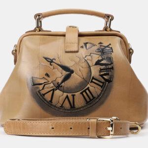 Неповторимая бежевая сумка с росписью ATS-4162