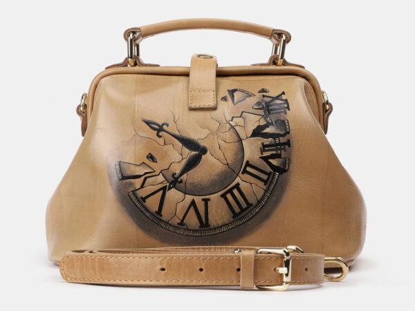 Уникальная бежевая сумка с росписью ATS-4162