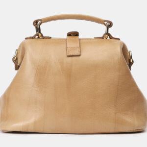 Уникальная бежевая сумка с росписью ATS-4162 237057