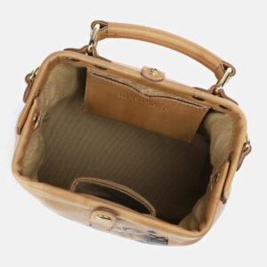Уникальная бежевая сумка с росписью ATS-4162 237058