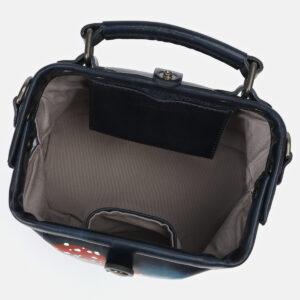 Деловая черная сумка с росписью ATS-4163 237054
