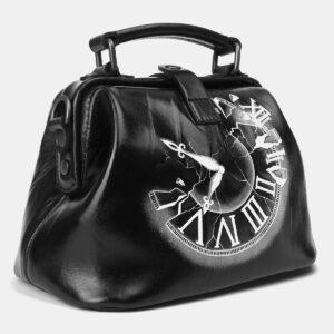 Модная черная сумка с росписью ATS-4164 237046