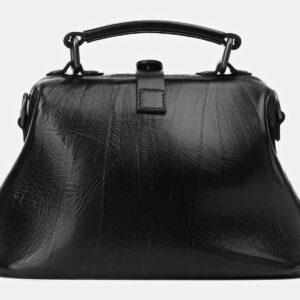 Модная черная сумка с росписью ATS-4164 237047