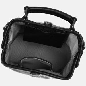 Модная черная сумка с росписью ATS-4164 237049