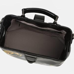 Вместительная черная сумка с росписью ATS-4165 237043