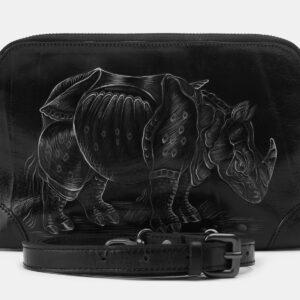 Стильный черный клатч с росписью ATS-4161