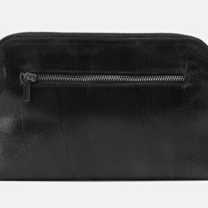 Солидный черный клатч с росписью ATS-4161 237062