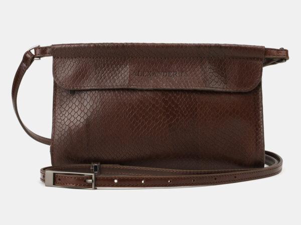 Функциональный коричневый женский клатч ATS-4159