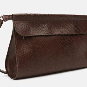 Функциональный коричневый женский клатч ATS-4159 237066
