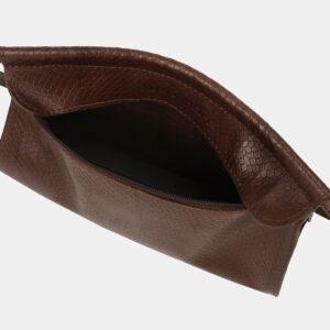 Функциональный коричневый женский клатч ATS-4159 237069