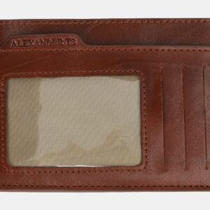 Кожаная светло-коричневая визитница ATS-4169 237024