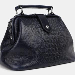 Кожаная синяя женская сумка ATS-4214 237385