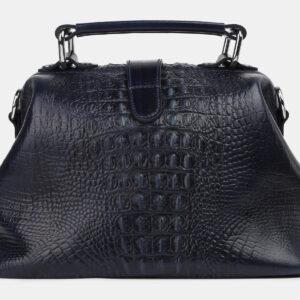 Кожаная синяя женская сумка ATS-4214 237386