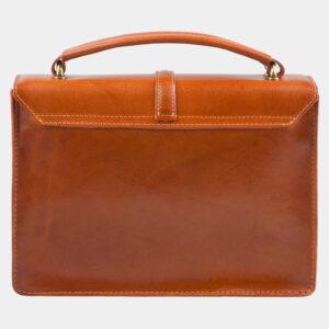 Функциональная оранжевая сумка с росписью ATS-2816 237631