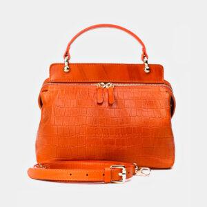 Деловая оранжевая женская сумка ATS-3364