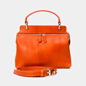 Функциональная оранжевая женская сумка ATS-3365