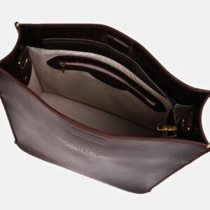 Модная коричневая женская сумка ATS-3415 237588