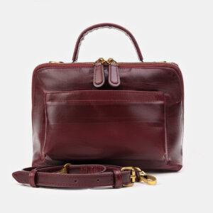 Удобная бордовая женская сумка ATS-3492