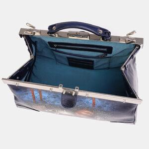 Уникальный синий саквояж с росписью ATS-3710 237578