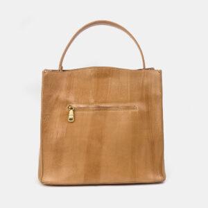 Вместительная бежевая женская сумка ATS-3329 237602