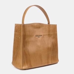 Вместительная бежевая женская сумка ATS-3329 237601
