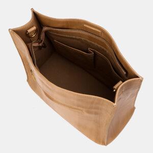 Вместительная бежевая женская сумка ATS-3329 237603