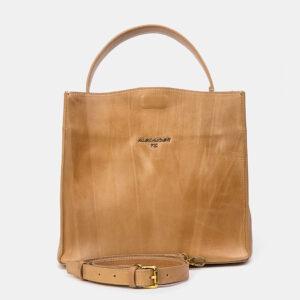 Вместительная бежевая женская сумка ATS-3329