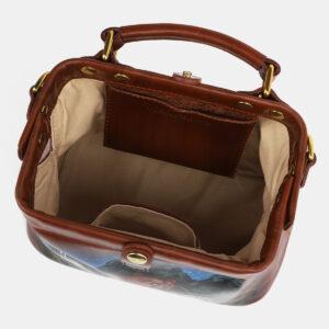 Удобная светло-коричневая сумка с росписью ATS-4230 237446