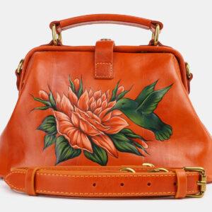 Модная оранжевая сумка с росписью ATS-4229
