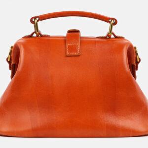Кожаная оранжевая сумка с росписью ATS-4229 237450