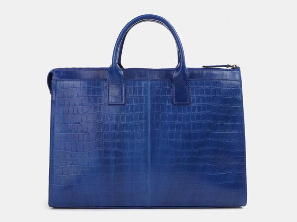 Вместительный голубовато-синий мужской портфель ATS-4244
