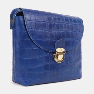 Удобный голубовато-синий женский клатч ATS-4243 237534
