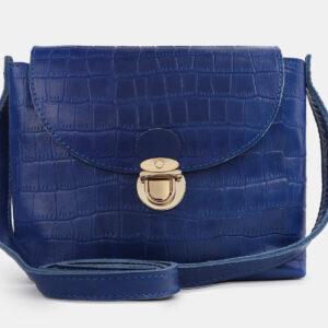 Удобный голубовато-синий женский клатч ATS-4243