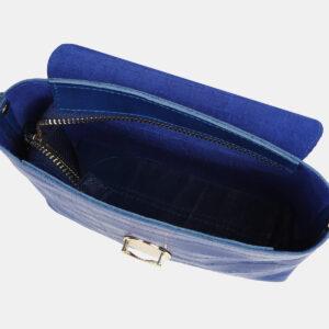 Удобный голубовато-синий женский клатч ATS-4243 237536