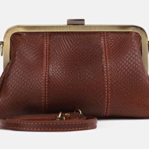 Удобный светло-коричневый женский клатч ATS-4249