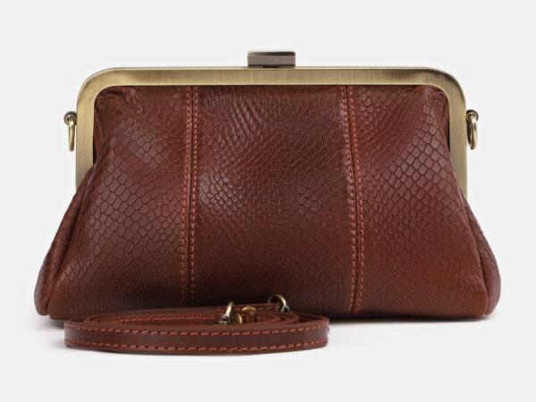 Солидный светло-коричневый женский клатч ATS-4249