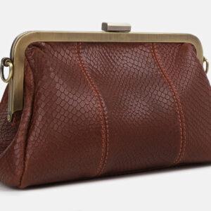 Солидный светло-коричневый женский клатч ATS-4249 237509