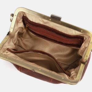 Солидный светло-коричневый женский клатч ATS-4249 237512