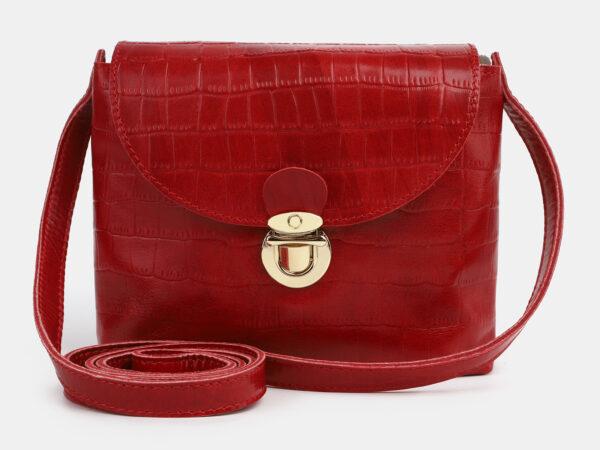 Деловой красный женский клатч ATS-4252