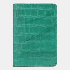 Удобная зеленая обложка для паспорта ATS-4257