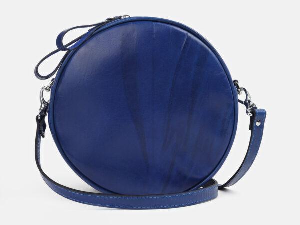 Кожаная голубовато-синяя женская сумка ATS-4251