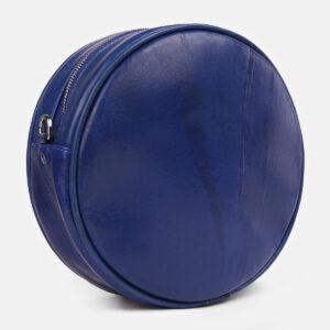 Кожаная голубовато-синяя женская сумка ATS-4251 237566
