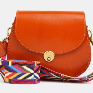 Вместительный оранжевый женский клатч ATS-4052